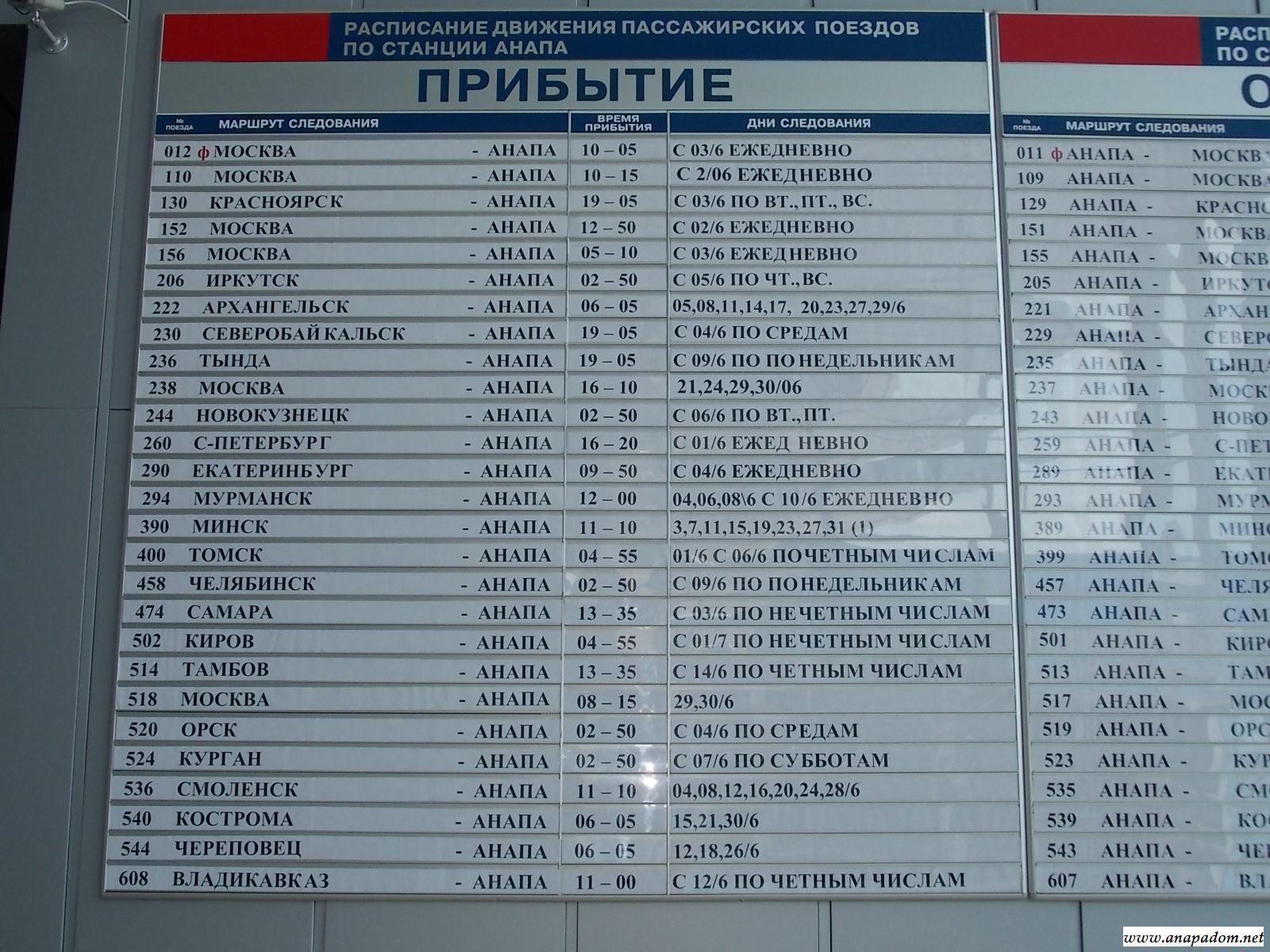 определитесь: поезд анапа новокузнецк расписание цена билета только