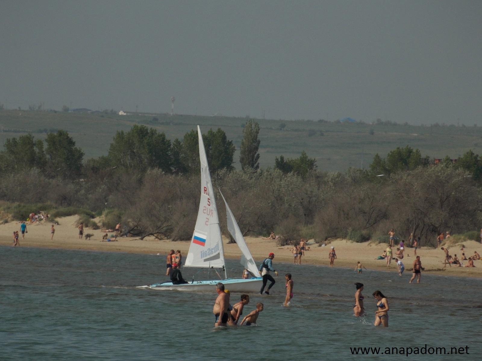 Песчаный пляж в анапе фото
